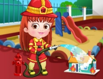 baby hazel fire fighter dress up game